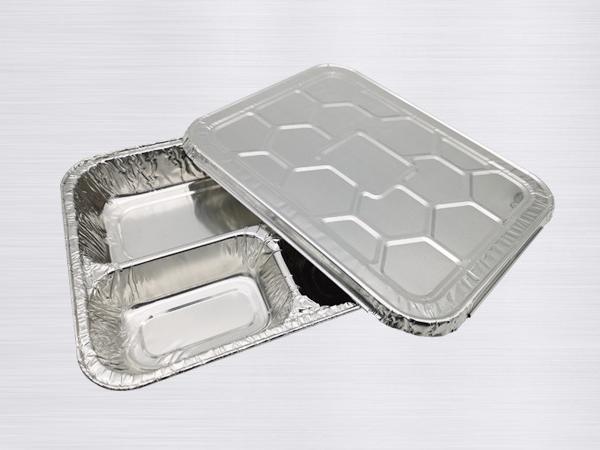 铝箔四格快餐盒